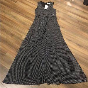 Belle Badgley Mischka Polka Dot Maxi Dress formal